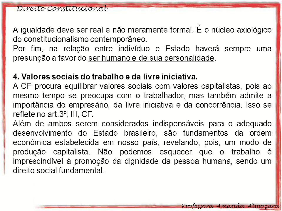 4. Valores sociais do trabalho e da livre iniciativa.