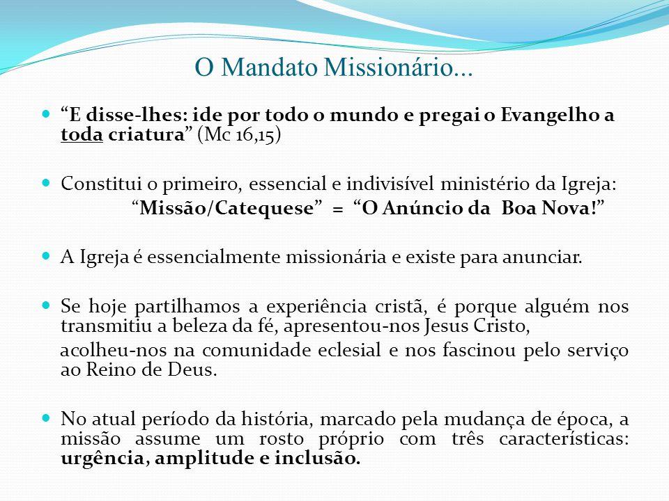 Missão/Catequese = O Anúncio da Boa Nova!