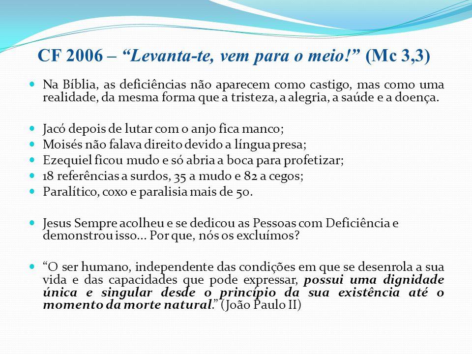CF 2006 – Levanta-te, vem para o meio! (Mc 3,3)