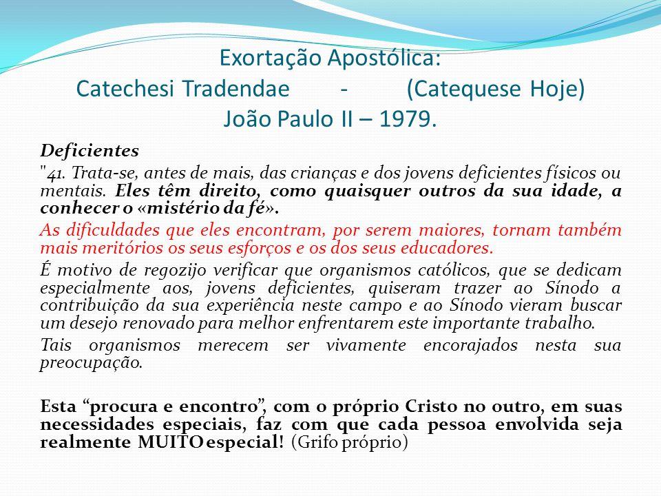 Exortação Apostólica: Catechesi Tradendae. -