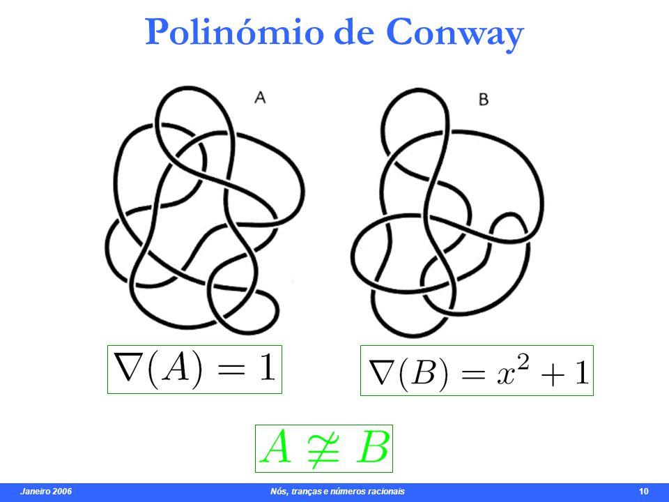 Janeiro 2006 Nós, tranças e números racionais 10