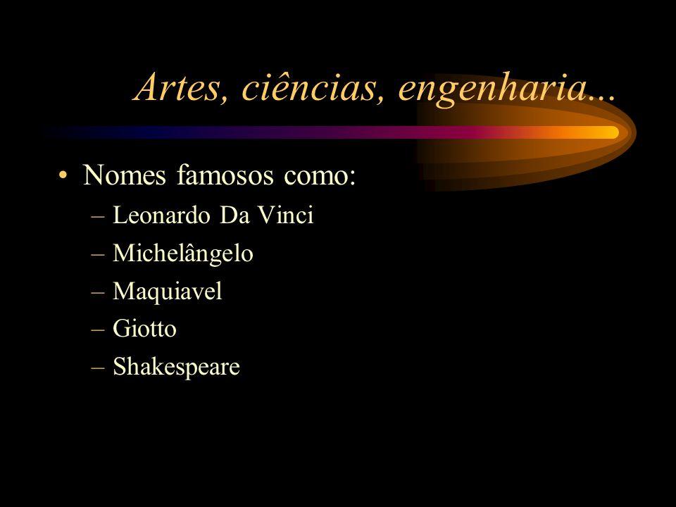 Artes, ciências, engenharia...