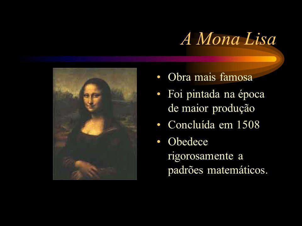 A Mona Lisa Obra mais famosa Foi pintada na época de maior produção