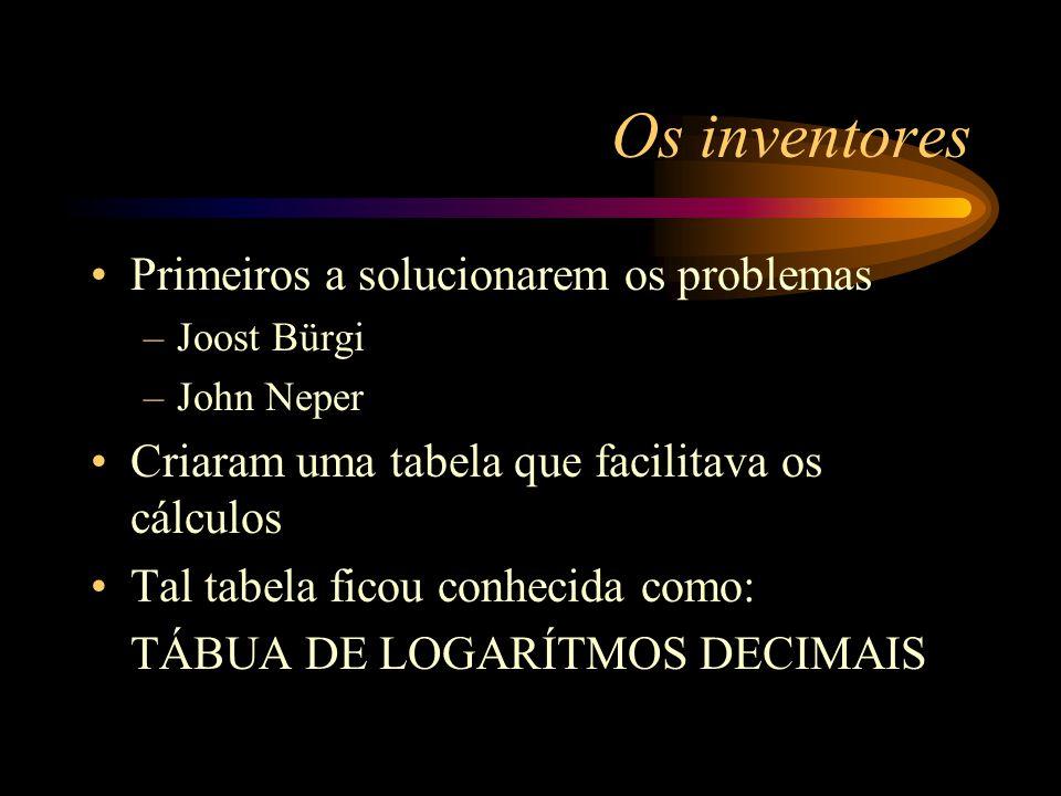 Os inventores Primeiros a solucionarem os problemas