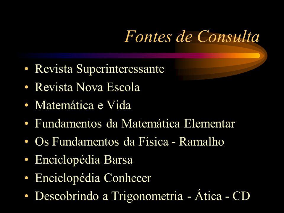 Fontes de Consulta Revista Superinteressante Revista Nova Escola