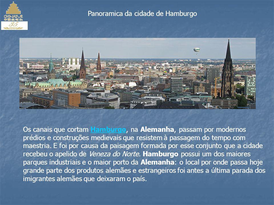 Panoramica da cidade de Hamburgo