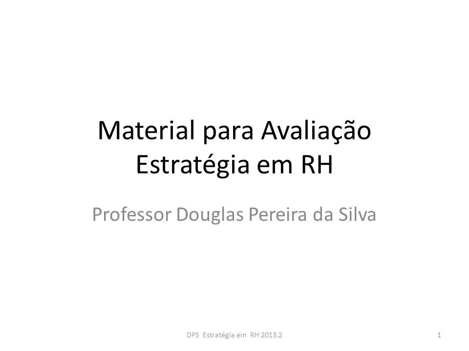 Material para Avaliação Estratégia em RH