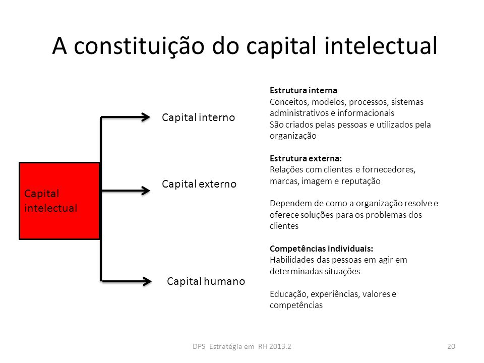 A constituição do capital intelectual