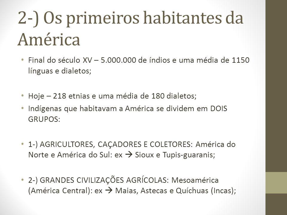 2-) Os primeiros habitantes da América