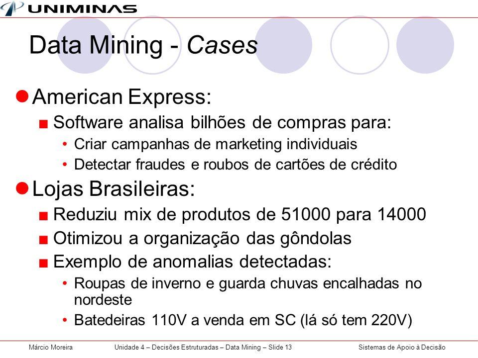 Unidade 4 – Decisões Estruturadas – Data Mining – Slide 13