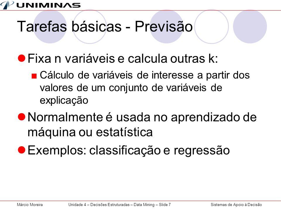 Tarefas básicas - Previsão
