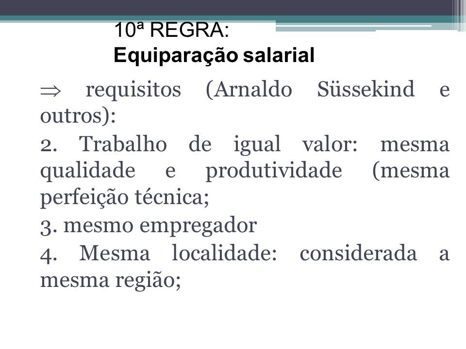  requisitos (Arnaldo Süssekind e outros):
