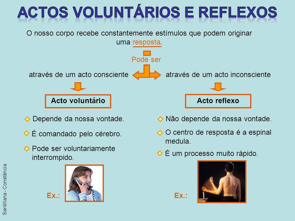Actos voluntários e reflexos
