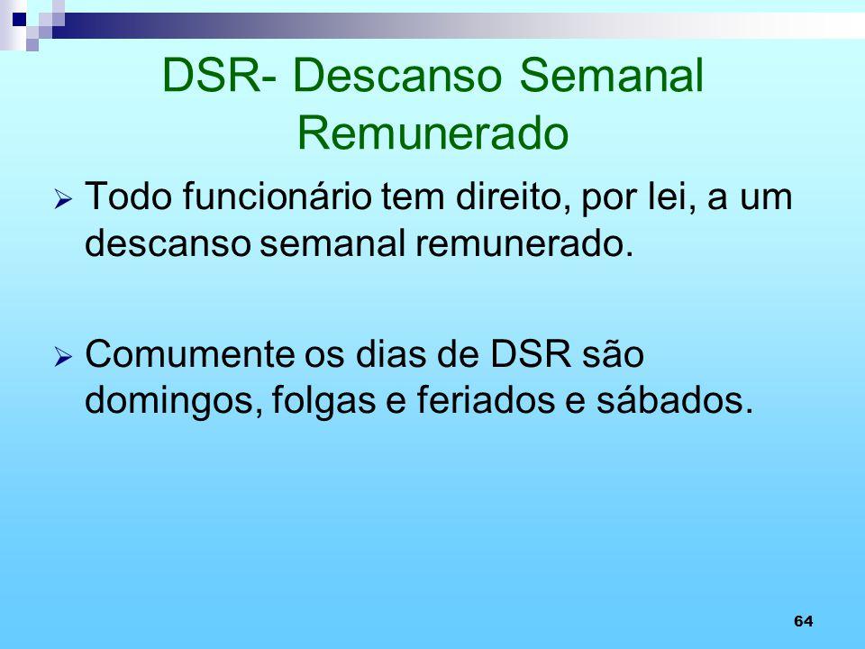DSR- Descanso Semanal Remunerado