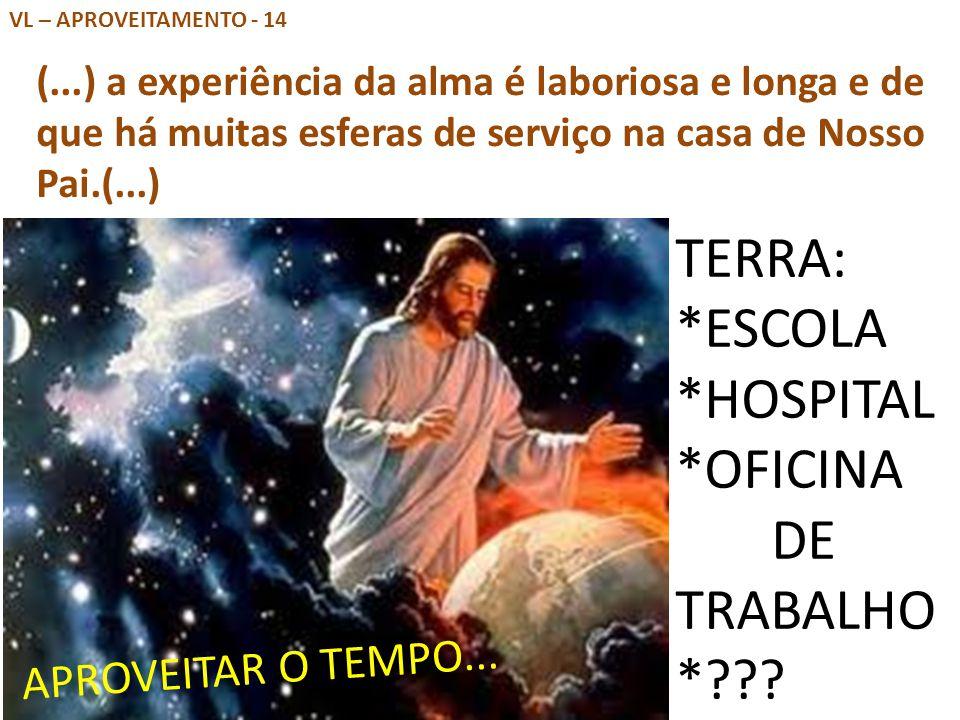 TERRA: *ESCOLA *HOSPITAL *OFICINA DE TRABALHO *