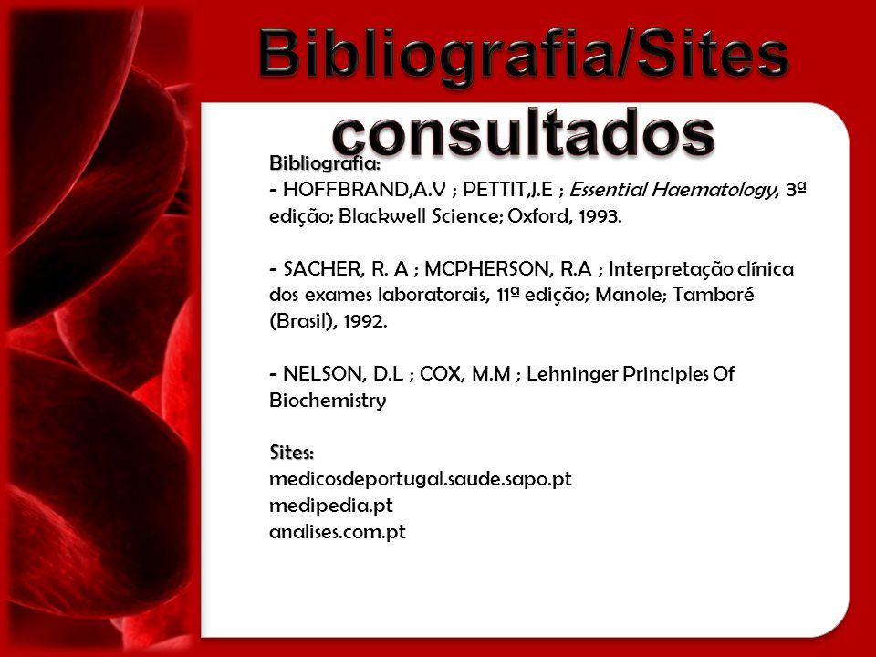 Bibliografia/Sites consultados