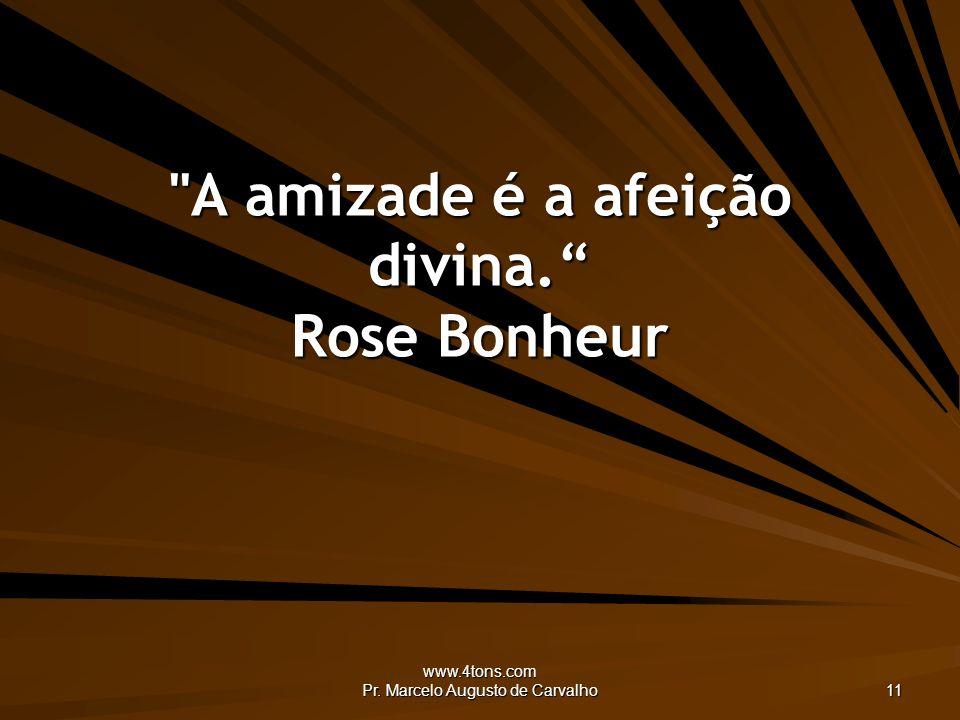 A amizade é a afeição divina. Rose Bonheur