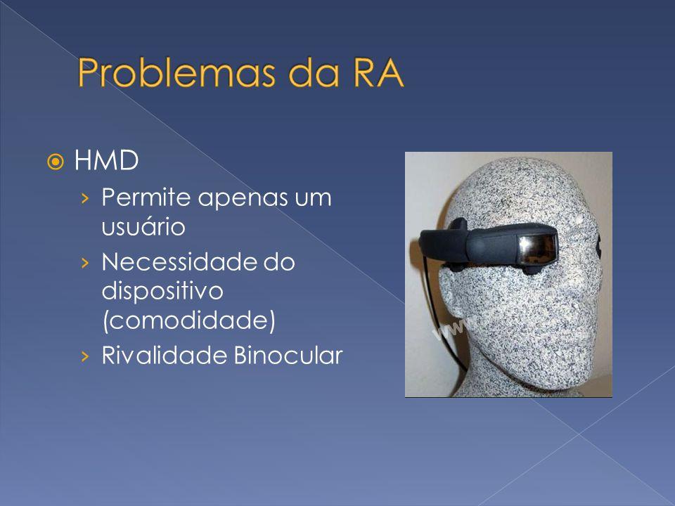 Problemas da RA HMD Permite apenas um usuário