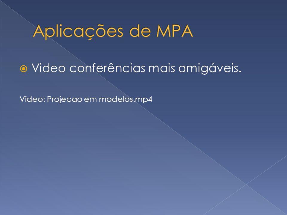 Aplicações de MPA Video conferências mais amigáveis.