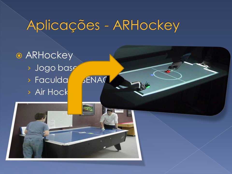 Aplicações - ARHockey ARHockey Jogo baseado em RA projetiva