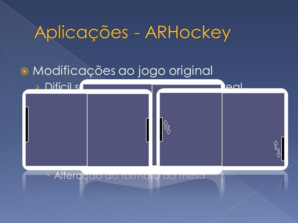 Aplicações - ARHockey Modificações ao jogo original