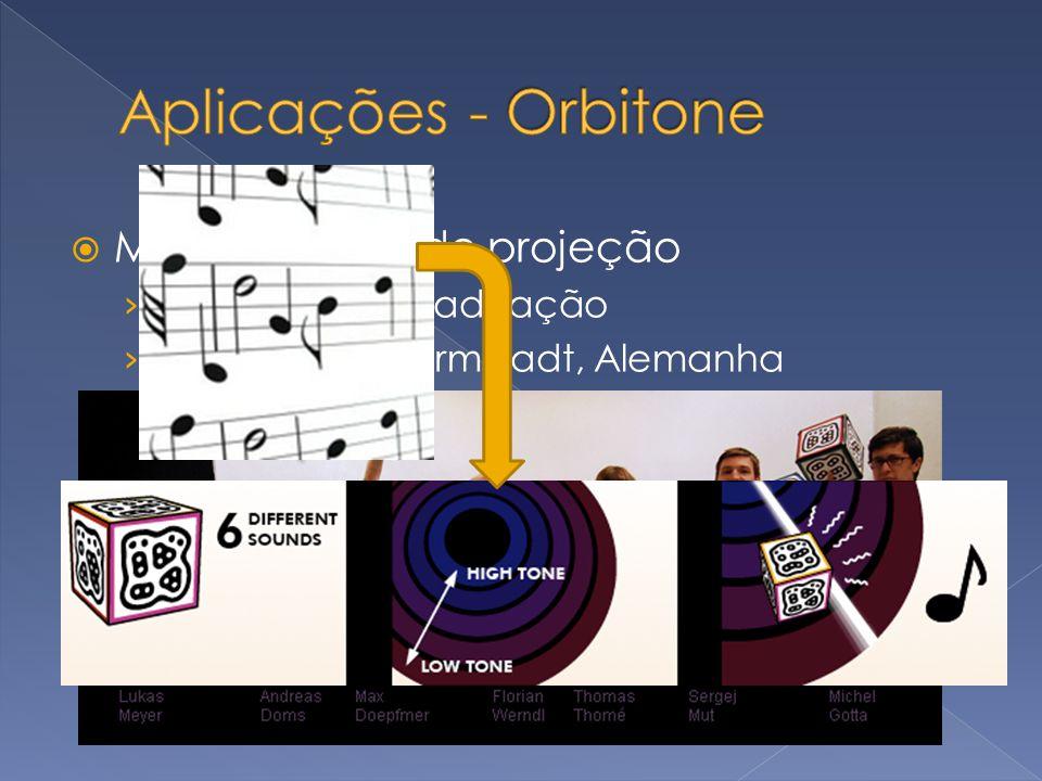 Aplicações - Orbitone Música utilizando projeção Demo