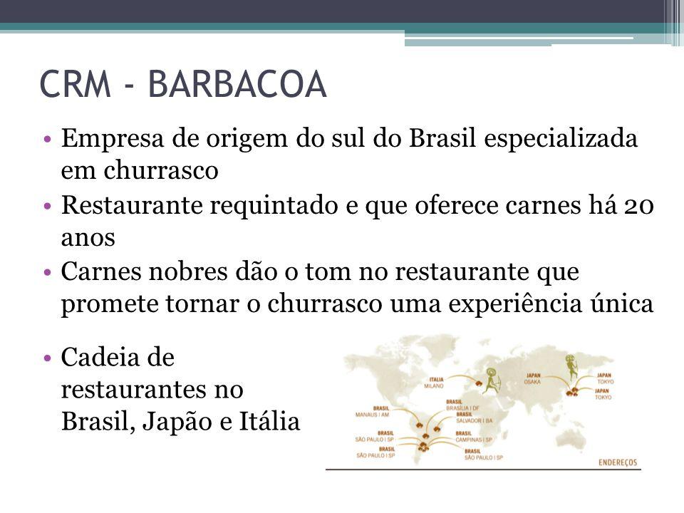CRM - BARBACOA Empresa de origem do sul do Brasil especializada em churrasco. Restaurante requintado e que oferece carnes há 20 anos.