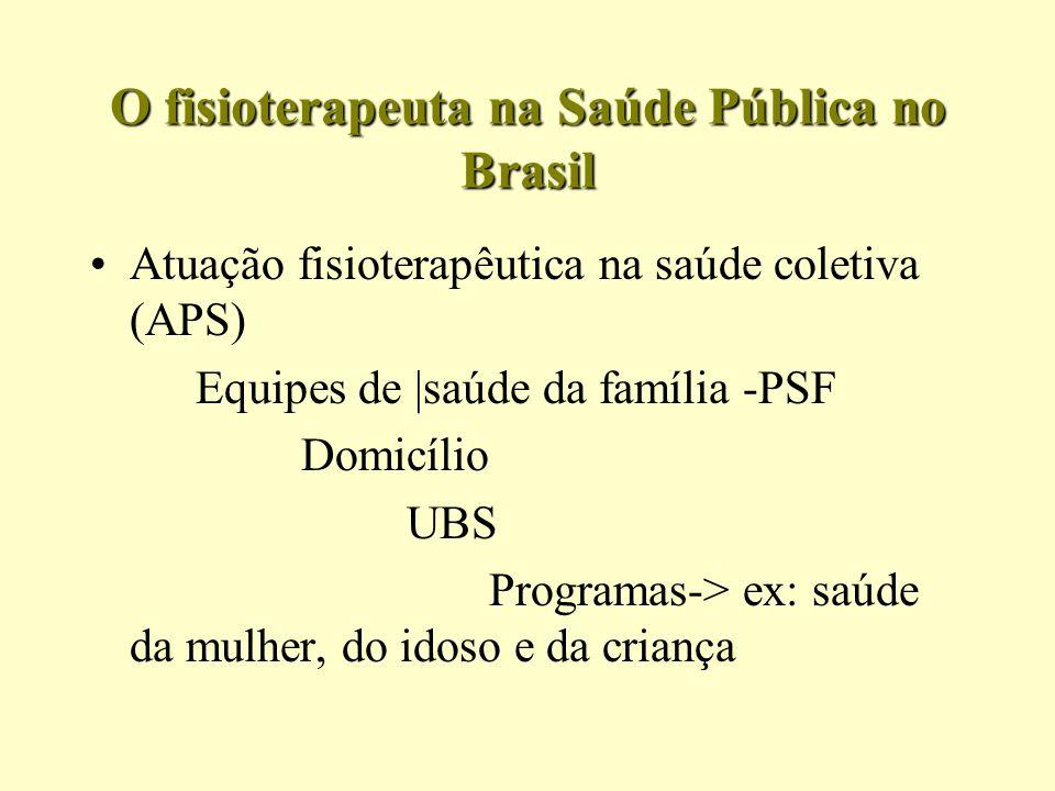 O fisioterapeuta na Saúde Pública no Brasil