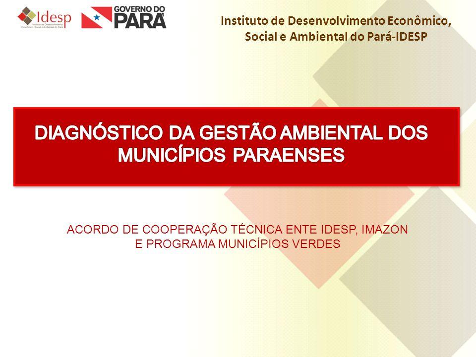 DIAGNÓSTICO DA GESTÃO AMBIENTAL DOS MUNICÍPIOS PARAENSES