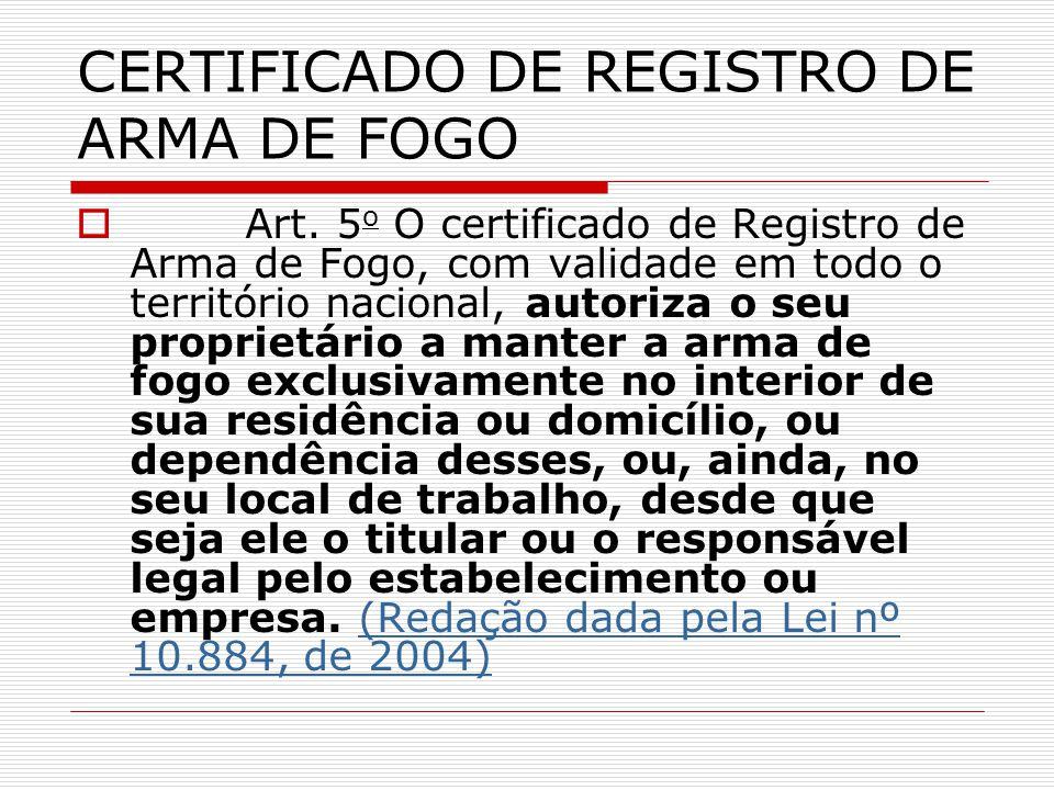 CERTIFICADO DE REGISTRO DE ARMA DE FOGO