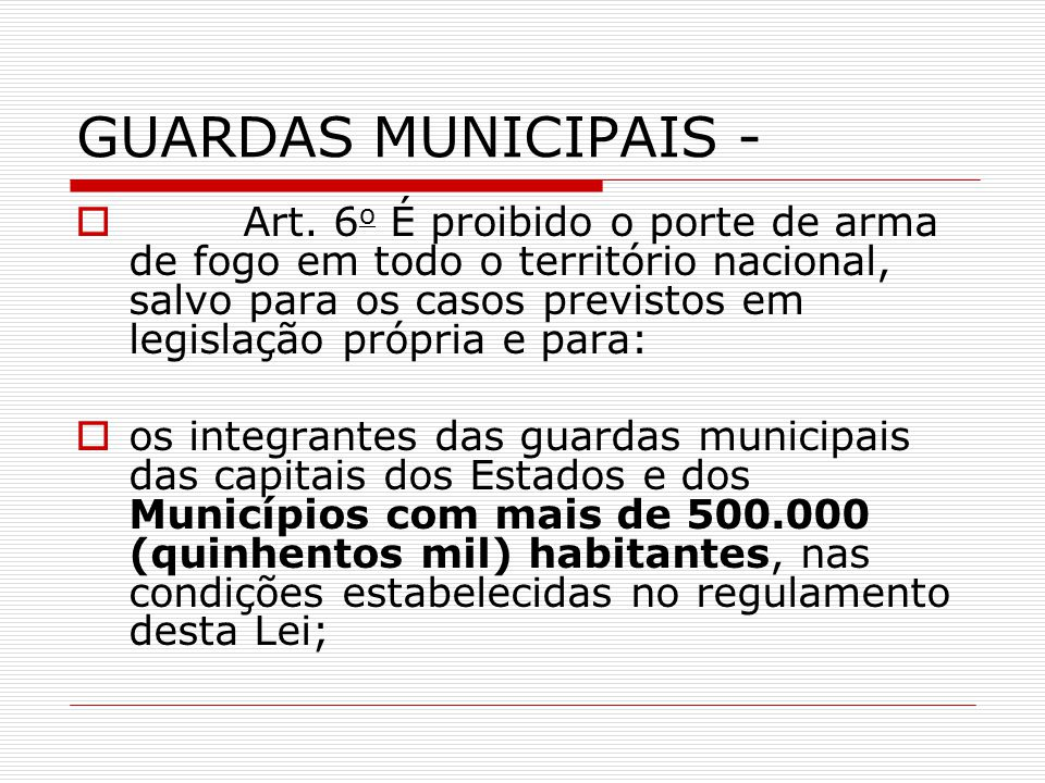 GUARDAS MUNICIPAIS -
