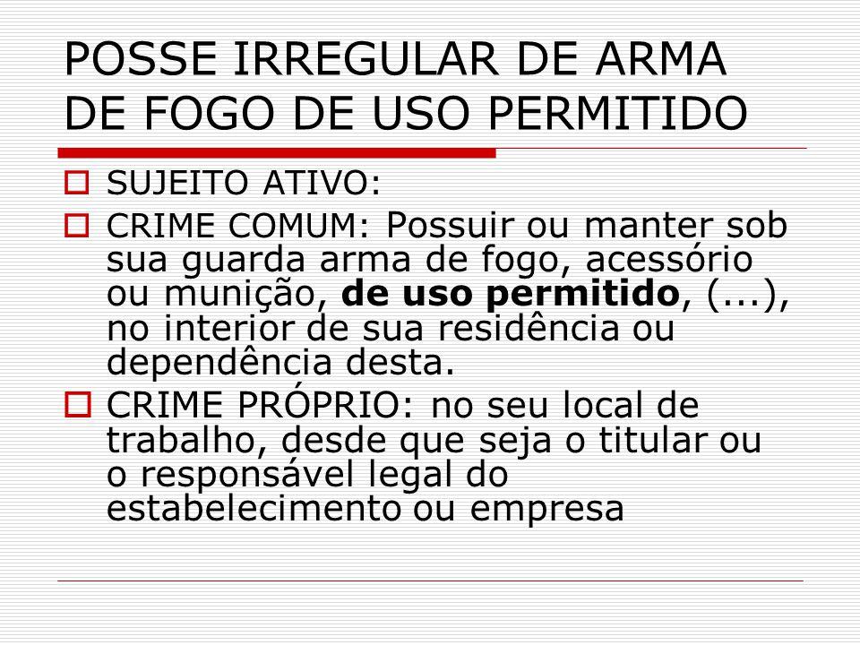 POSSE IRREGULAR DE ARMA DE FOGO DE USO PERMITIDO