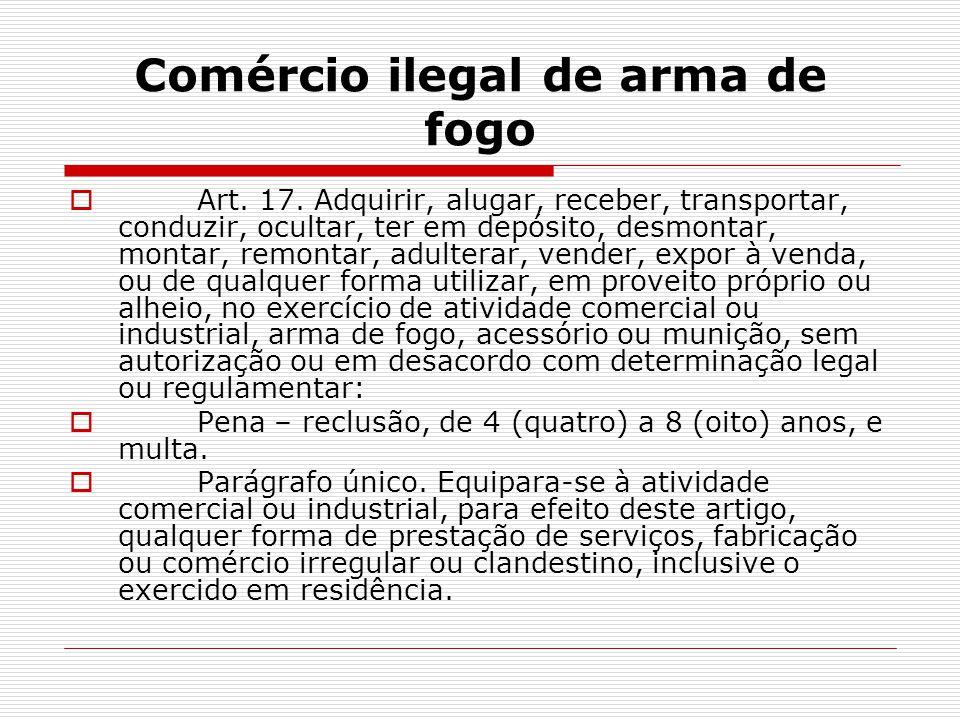 Comércio ilegal de arma de fogo