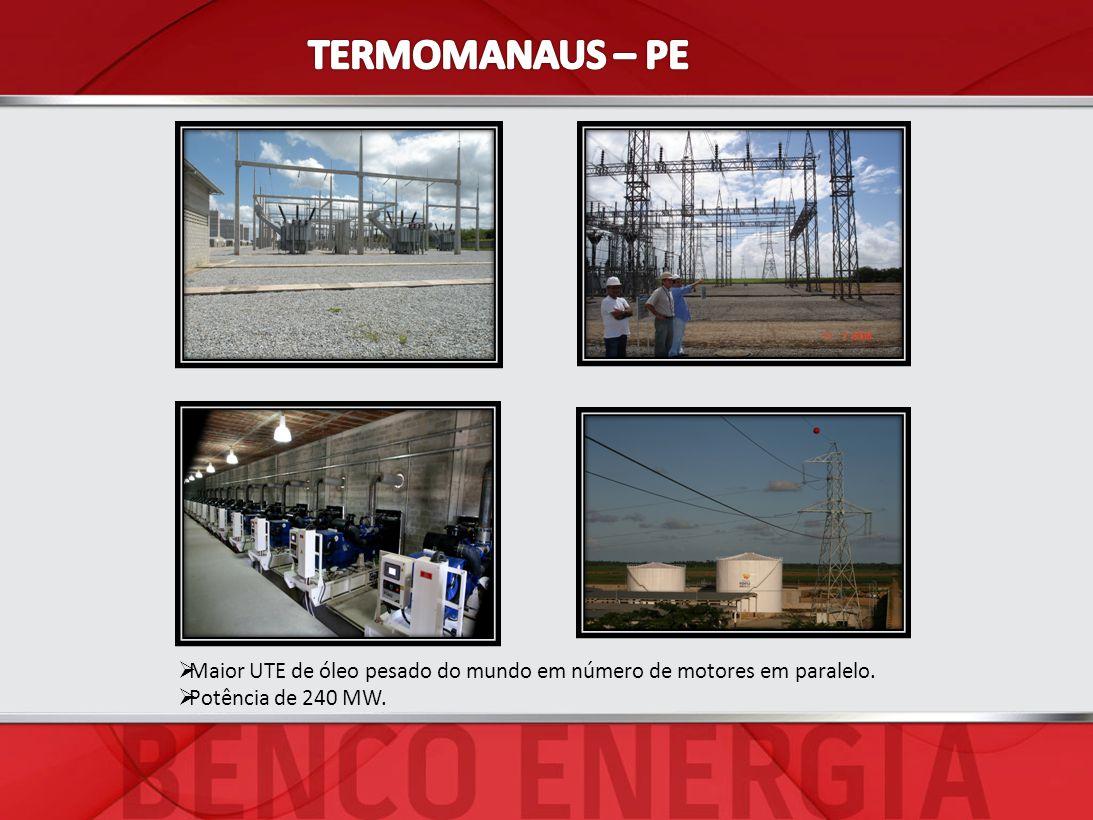 TERMOMANAUS – PE Maior UTE de óleo pesado do mundo em número de motores em paralelo.