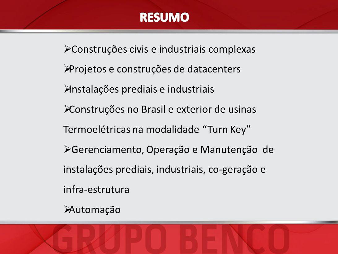 RESUMO Construções civis e industriais complexas