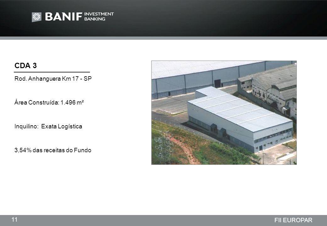 CDA 3 Rod. Anhanguera Km 17 - SP Área Construída: 1.496 m²
