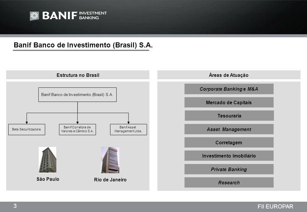 Corporate Banking e M&A Investimento Imobiliário