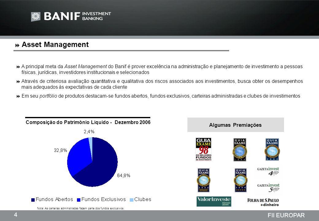 Asset Management Algumas Premiações