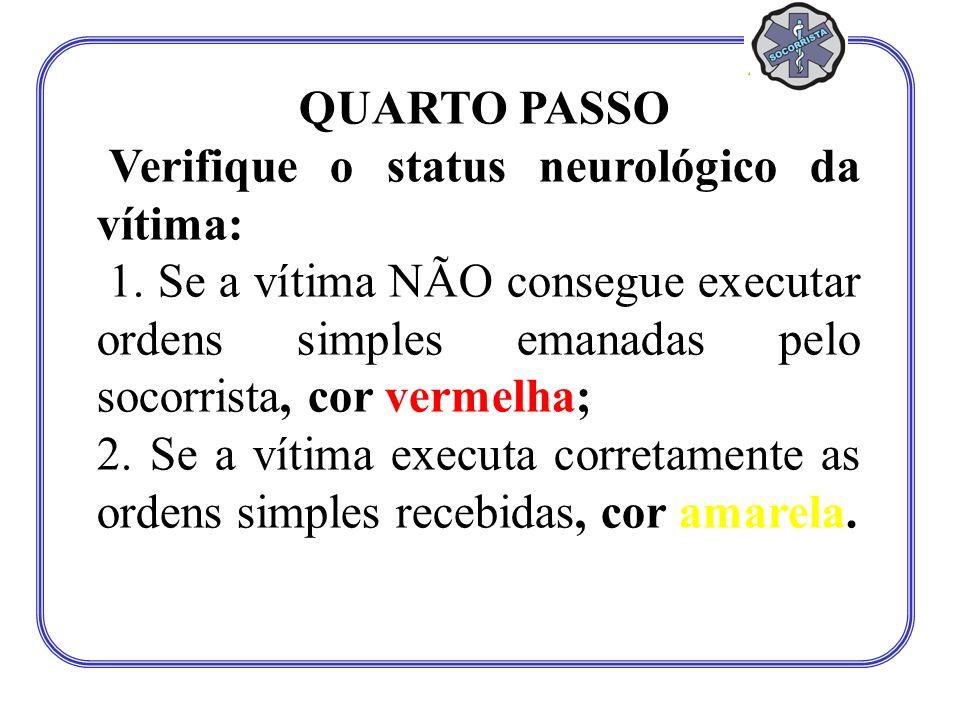 Verifique o status neurológico da vítima: