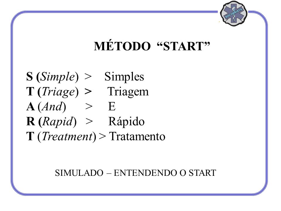 S (Simple) > Simples T (Triage) > Triagem A (And) > E