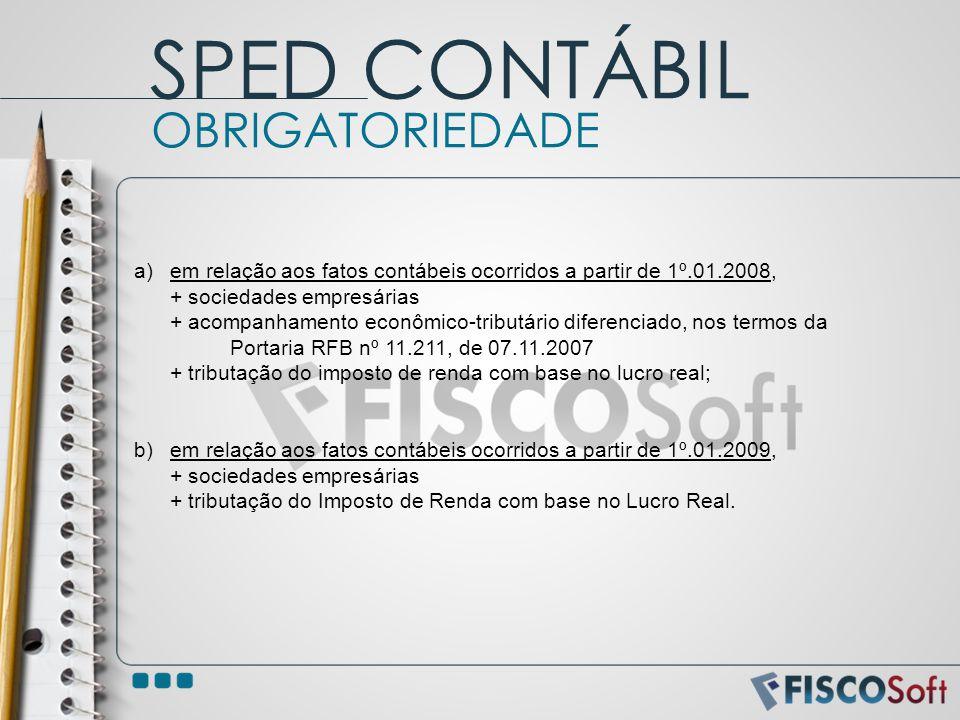 SPED CONTÁBIL OBRIGATORIEDADE