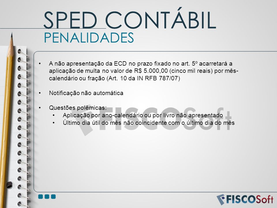 SPED CONTÁBIL PENALIDADES