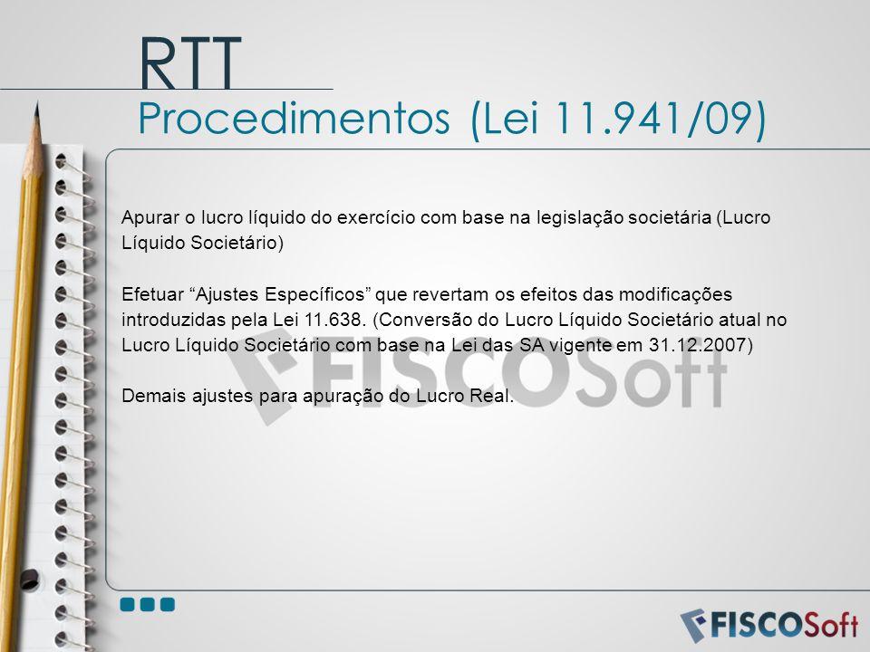 RTT Procedimentos (Lei 11.941/09)