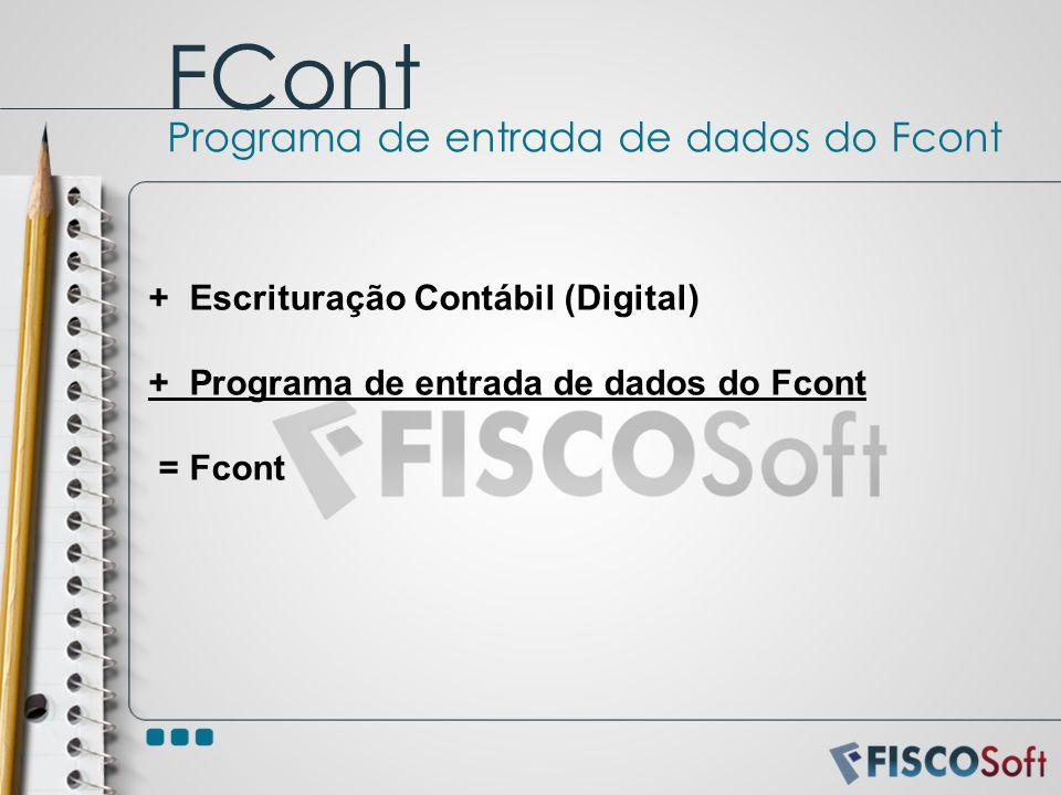 FCont Programa de entrada de dados do Fcont