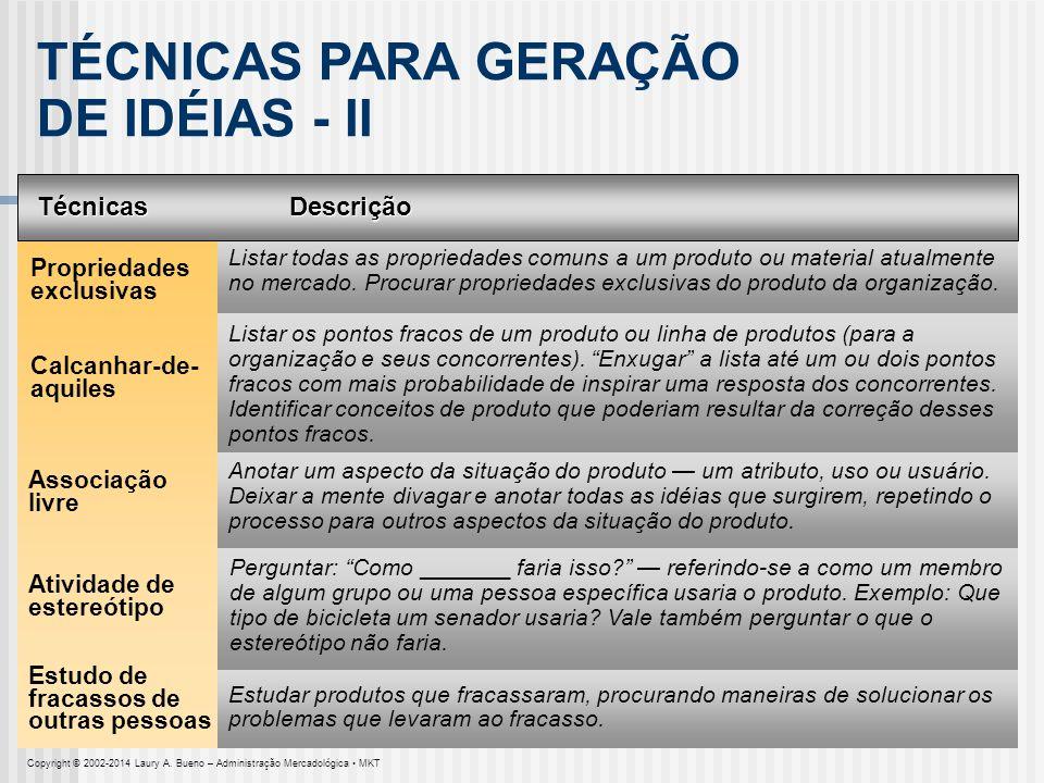 TÉCNICAS PARA GERAÇÃO DE IDÉIAS - II