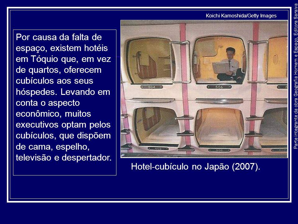 Hotel-cubículo no Japão (2007).