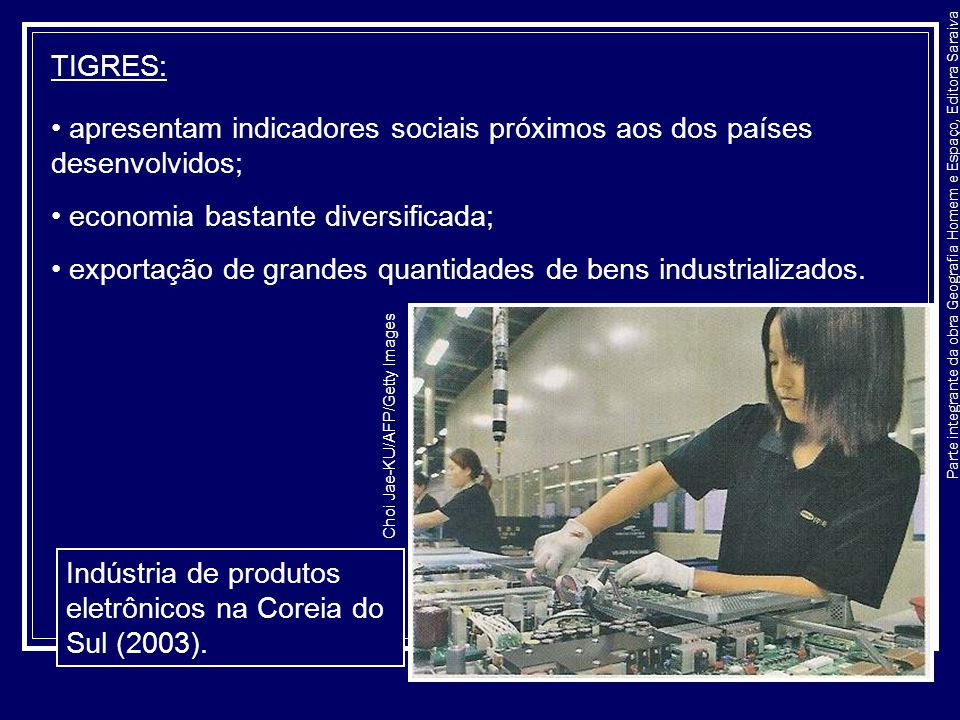 apresentam indicadores sociais próximos aos dos países desenvolvidos;