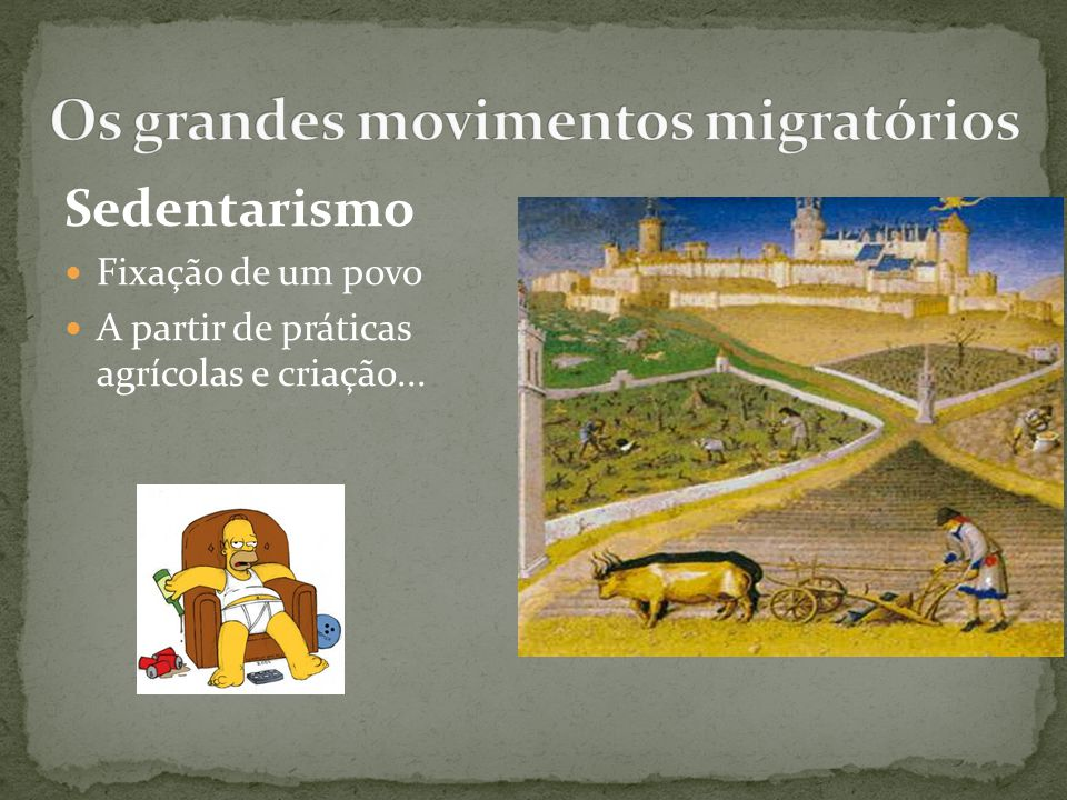 Os grandes movimentos migratórios