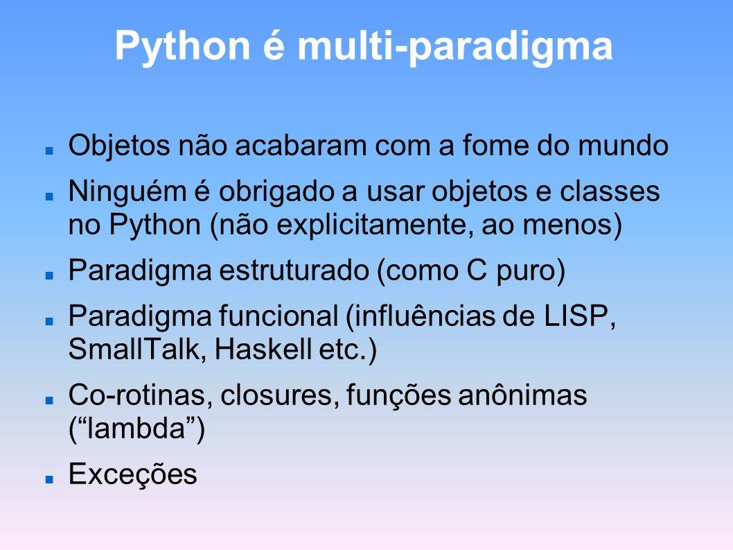 Python é multi-paradigma