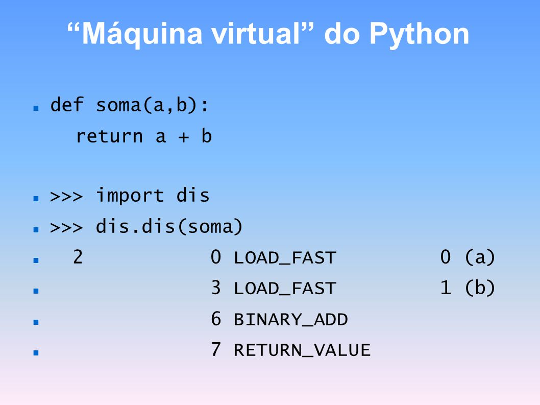 Máquina virtual do Python